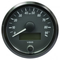 VDO SingleViu Speedometer 90 Mph Black 80mm