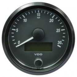 VDO SingleViu Geschwindigkeitsmesser 30 Mph Schwarz 80mm