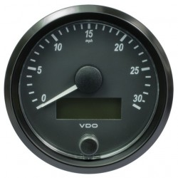 VDO SingleViu Speedometer 30 Mph Black 80mm
