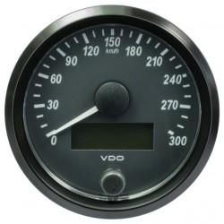 10 Stück VDO SingleViu Geschwindigkeitsmesser 300 Km/h Schwarz 80mm