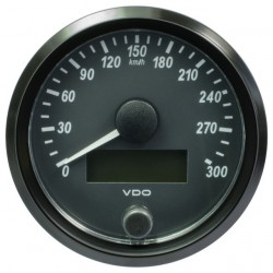 VDO SingleViu Speedometer 300 Km/h Black 80mm
