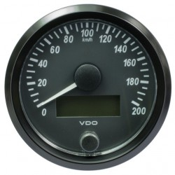 VDO SingleViu Speedometer 200 Km/h Black 80mm