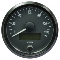 10 Pieces VDO SingleViu Speedometer 120 Km/h Black 80mm