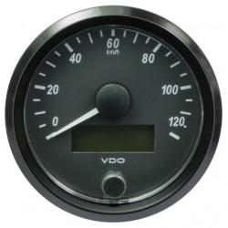 10 Stück VDO SingleViu Geschwindigkeitsmesser 120 Km/h Schwarz 80mm