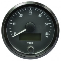 10 Pieces VDO SingleViu Speedometer 60 Km/h Black 80mm