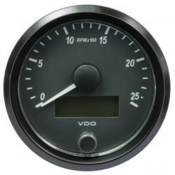10 Stuks VDO SingleViu Toerenteller 2.500 RPM Zwart 80mm