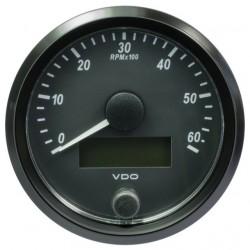 VDO SingleViu Drehzahlmesser 6.000 RPM Schwarz 80mm