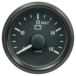 VDO SingleViu 0247 Voltmeter 8-16V Zwart 52mm