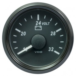 25 Pieces VDO SingleViu 0247 Voltmeter 16-32V Black 52mm