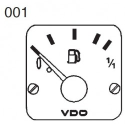 VDO Modulcockpit II - 1 Unit Module - Fuel level lever arm - 12-24V