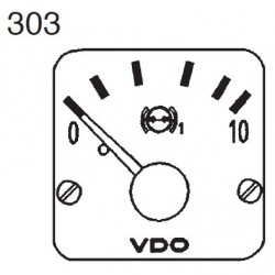 VDO Modulcockpit II - 1 Unit Module - Brake 1 oil 10 Bar - 12-24V
