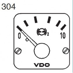 VDO Modulcockpit II - 1 Unit Module - Brake 2 oil 10 Bar - 12-24V