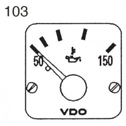 VDO Modulcockpit II - 1 Unit Module - Engine oil 150°C - 12-24V