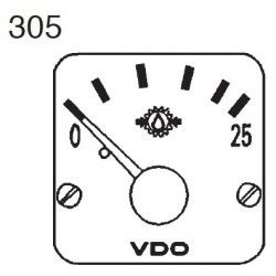 VDO Modulcockpit II - 1 Unit Module - Transmission oil 25 Bar - 12-24V
