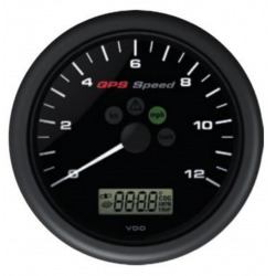 VDO ViewLine GPS Speedometer 0-12 kn Black 110 mm