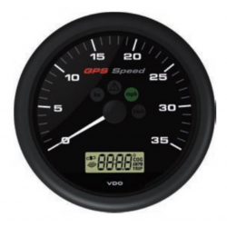 VDO ViewLine GPS Speedometer 0-35 kn Black 110 mm