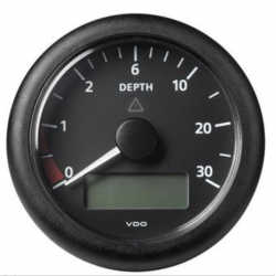 VDO ViewLine Depth gauge 0-30m Black 85mm