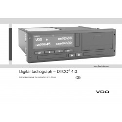 Instruction manual Continental VDO Tachograph 1381 DTCO 4.0 Englisch