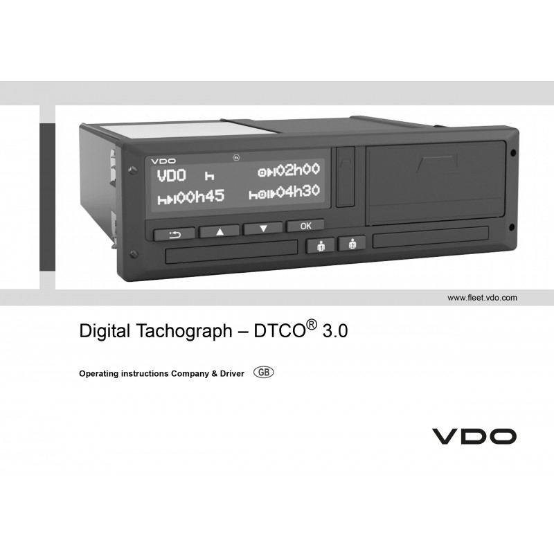 The digital tachograph 3. 0 from vdo: faster, brighter and more.