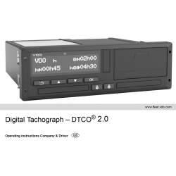 Instruction manual Continental VDO Tachograph 1381 DTCO 2.0 Czech