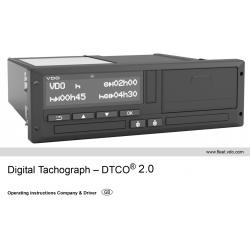 Betriebsanleitung Continental VDO Tachograph 1381 DTCO 2.0 Englisch