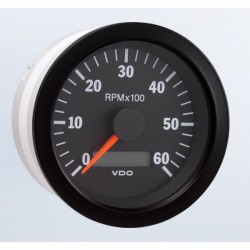 VDO Cockpit International Tachometer 6.000 RPM 80mm 12-24V