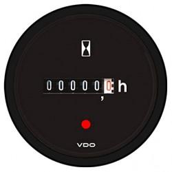 10 x Bulk VDO ViewLine Betriebsstundenzähler Schwarz 52mm