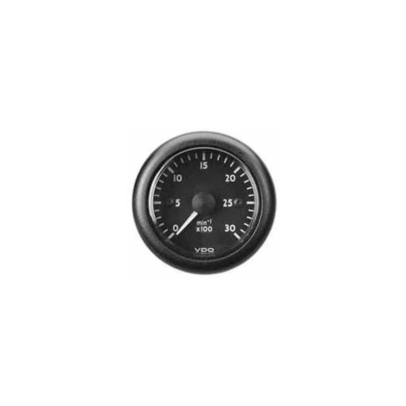 VDO OceanLine Tachometer 1.800 RPM Black - Red pointer - 85mm 12V