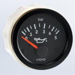 VDO Cockpit Vision Motoroliedruk 5Bar 52mm 12V