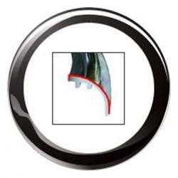 VDO ViewLine 110mm Bezel Round Black