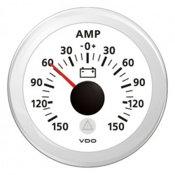 VDO ViewLine Ammeter gauge 150A White 52 mm