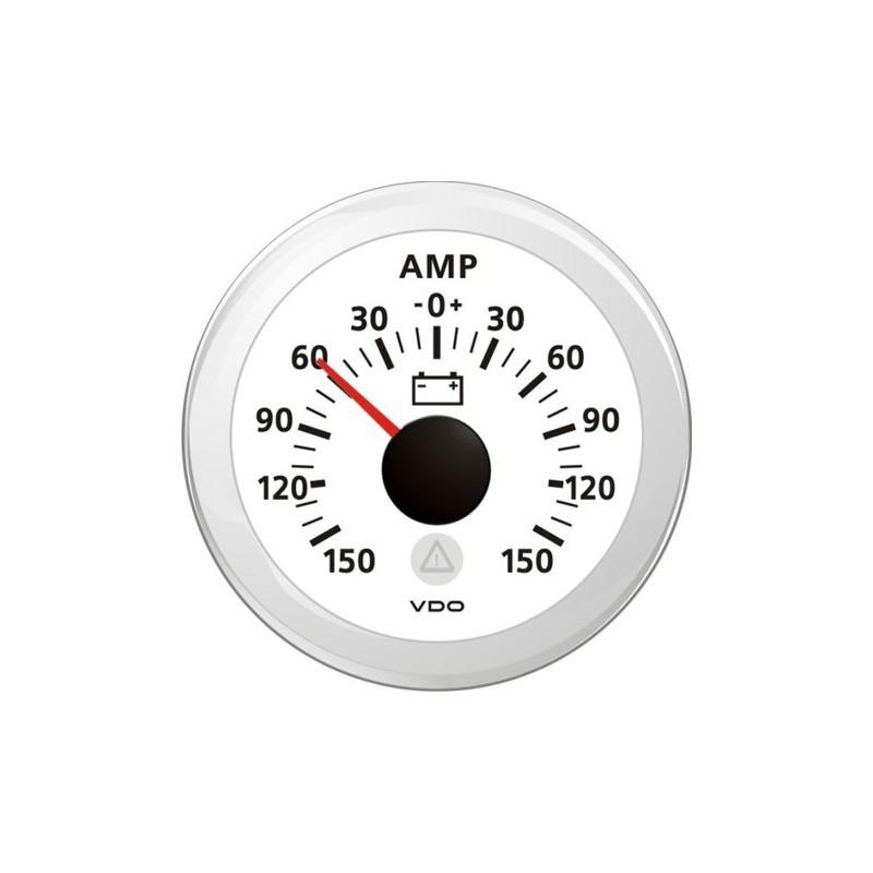 VDO ViewLine Ampèremeter Kit 150A Wit 52mm