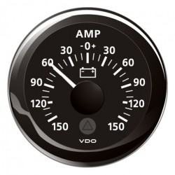 VDO ViewLine Ammeter gauge 150A set Black 52 mm