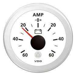 VDO ViewLine Ammeter gauge 60A set White 52 mm