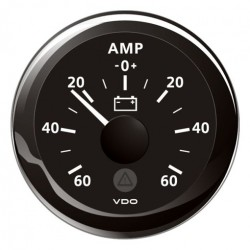 VDO ViewLine Ammeter gauge 60A set Black 52 mm