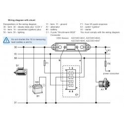 VDO ViewLine Ampèremeter Kit 60A Zwart 52mm