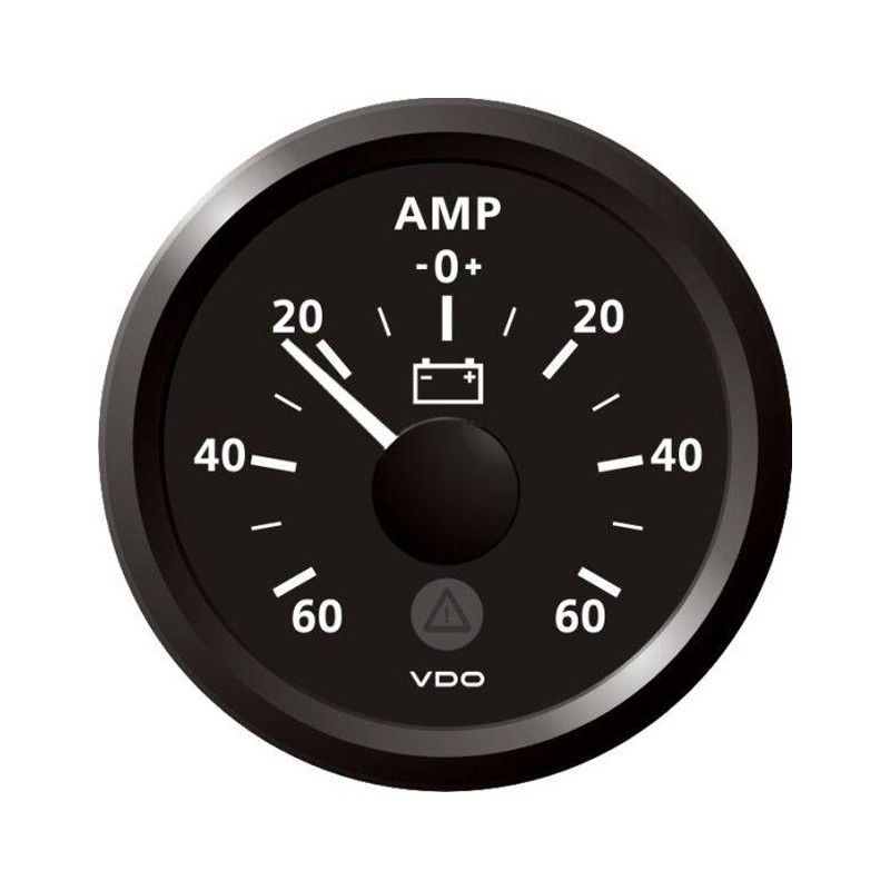 VDO ViewLine Ammeter gauge 60A Black 52 mm
