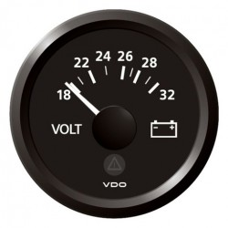 VDO ViewLine Voltmeter 18-32V Schwarz 52 mm
