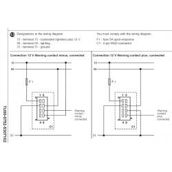 VDO ViewLine Voltmeter 8-16V Black 52 mm