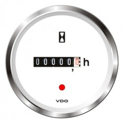 VDO ViewLine Betriebsstundenzähler Weiß 52mm