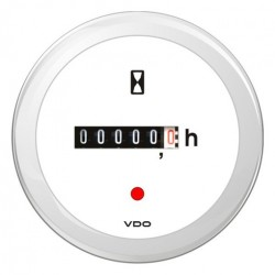 VDO ViewLine Engine hours counter White 52mm