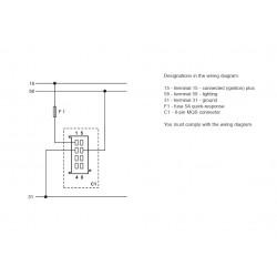 VDO ViewLine Urenteller Wit 52mm