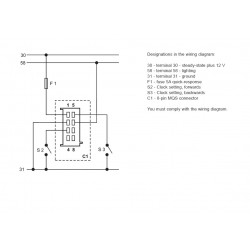 VDO ViewLine Quartzklok 24V Wit 52mm