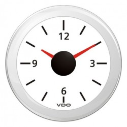 VDO ViewLine Quartz clock 12V White 52mm