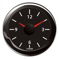 VDO ViewLine Quartz clock 12V Black 52mm