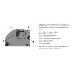 VDO ViewLine Quartzklok 24V Zwart 52mm