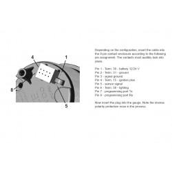 VDO ViewLine Vuilwaterniveau 4-20mA Wit 52mm