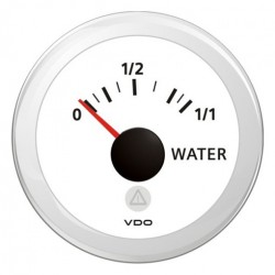 VDO ViewLine Fresh Water Level 3-180 Ohm White 52mm