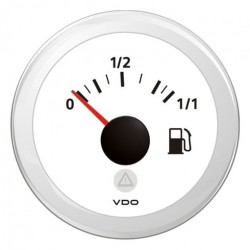 VDO ViewLine Fuel Level 3-180 Ohm White 52mm