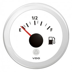 VDO ViewLine Fuel Level 240-33 Ohm White 52mm